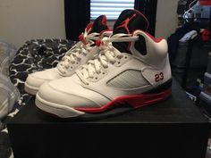 low priced 9f2b0 7f7bf 0cc25 05c5d  authentic air jordan 5 fire red size 9 fashion clothing shoes  accessories mensshoes athleticshoes ad ebay