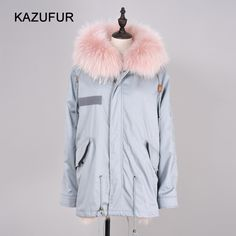 Check out this product on Alibaba.com APP Real fox fur lined hooded parka with raccoon fur collar for girls street fashion winter fabric fur coat