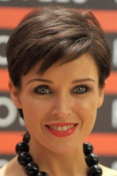 very short haircuts for round faces - Google Search