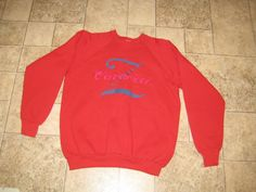 Vintage 90s Z CAVARICCI  Red Crew Neck Sweatshirt Hip Hop XL USA Next 2 New