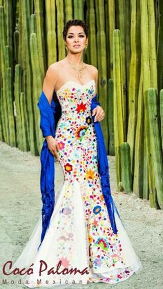 Mexican Style Wedding Dress - informal wedding dresses for older brides Mexican Fashion, Mexican Outfit, Mexican Dresses, Mexican Wedding Dresses, Dress Wedding, Mexican Wedding Themes, Bridal Gown, Wedding Reception, 15 Dresses