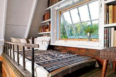 Bed, loft, and window.  I want to be there.  RIGHT NOW.
