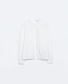 ZARA - NEW THIS WEEK - PRINTED TOP WITH BUTTONS AT THE BACK