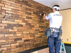 Wooden Wall Design, Wooden Accent Wall, Wooden Wall Panels, 3d Wall Panels, Wooden Wall Art, 3d Design, Loft Design, Acoustic Diffuser, Industrial Bedroom Furniture