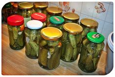 Pickles, Cucumber, Mason Jars, Food, Essen, Mason Jar, Meals, Pickle, Yemek