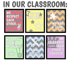 Classroom Rules  Whole Set 6 Included by TheInspirationalHome, $75.00 #classroom #teaching