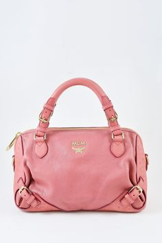 30b92f083457 MCM Small Pink Top Handle Bag. Small pink leather and gold-tone hardware bag.  Mine & Yours - Vancouver Luxury Fashion Resale + Consignment