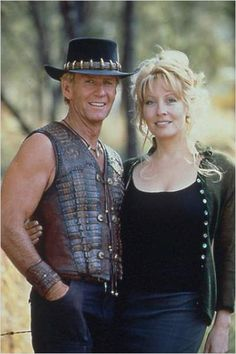 paul hogan & linda kozlowski from  crocodile dundee trilogy