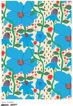 blue flowers by monika gorsberg (walkyland)