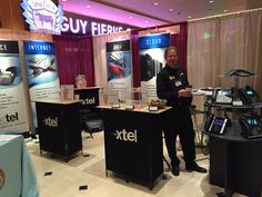 Xtel booth TT 8/9 set up and ready for Techspo 2015, New Jersey's premiere educational technology training and exhibition conference for K-12 school leaders at Bally's in Atlantic City.