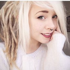 Blonde dreadlocks
