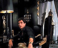 Al Pacino's role as Tony Montana is superb Scarface Film, Scarface Poster, Scarface Quotes, Al Pacino, The Godfather Wallpaper, Gangster Movies, Gangster Quotes, Donnie Brasco, Chicano Art