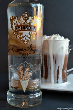 A delicious night-cap made with your favorite hot chocolate and Smirnoff Cinna-Sugar Vodka Whipped Cream!  OHHHHHHHHHHH.