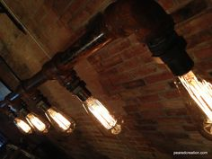 Industrial Edison Bulb Lamp Chandelier by newwineoldbottles