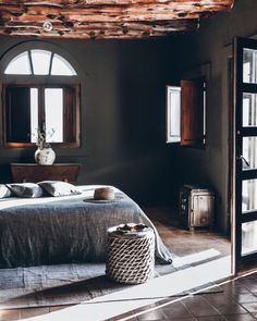LOVE AT LA GRANJA IBIZA » mikuta.nu Contemporary Bedroom Sets, Modern Bedroom Design, Modern House Design, Modern Interior Design, Bedroom Color Schemes, Bedroom Colors, Sweet Home, Black Rooms, Coastal Bedrooms