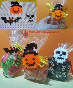 Como decorar golosineros para Halloween con Hama beads
