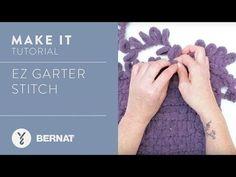 Knitting Patterns Blanket EZ Knitting: The Garter Stitch Finger Knitting, Knitting Yarn, Hand Knitting, Knitting Patterns, Crochet Patterns, Knitting Tutorials, Cross Stitch Needles, Chunky Yarn, Yarn Projects