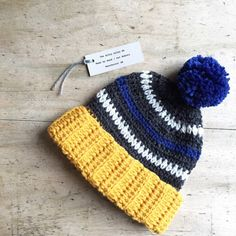 Bobble Hat Ski Retro Style Hat  Yellow  by TheManchesterBee