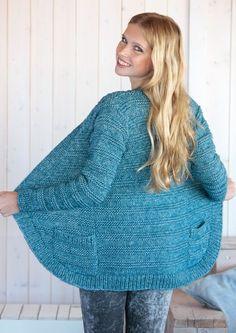Dit is een heerlijk patroon voor een vest, dat ook nog eens gemakkelijk door de minder geoefende breister gemaakt kan worden.