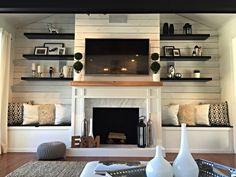 67 best bookshelves around fireplace images living room diy ideas rh pinterest com