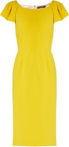 DOLCE & GABBANA Cap-sleeved cady midi dress http://shopstyle.it/l/cIWg