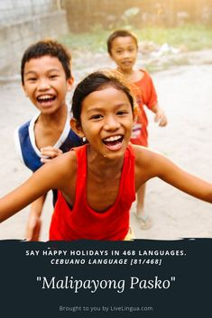 """How to say Happy Holidays """"Malipayong Pasko"""" - Cebuano Language. Learn Spanish Online, Language School, Free Tips, Learning Spanish, My Passion, Languages, Happy Holidays, Improve Yourself, Sayings"""