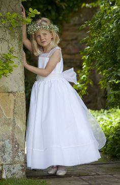 Aurelia Nicki MacFarlane Communion Dress - Couture Holy Communion Dress- Classic Ballerina White Silk Couture First Communion Dress - White Silk