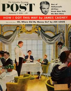 The Saturday Evening Post, January 1956. (Cover artwork by George Hughes)
