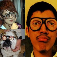 1 Pcs Super Funny Novelty Glasses-Fancy Dress/Joke/Party Night Halloween Tricky Joke Toy Fun Toys Children Gifts