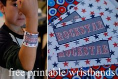 Rock Star Party Place: 1st Birthday: Old School Rock Star and Free Printables