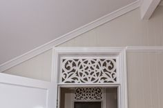 Renovating a Queenslander: Mouldings - Picture rails, skirting, architraves, cornicing and hall / heritage archways Architrave, Large Wall Decor, Cedar Homes, Renovations, Breezeway, Edwardian House, Flipping Houses, Home Decor Tips, Cottage Renovation