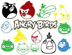 Vinyl decals: Angry Birds!  Great for on the car or as cell phone decals!