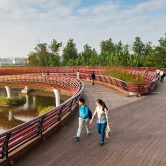 A Resilient Landscape: Yanweizhou Park in Jinhua City by Turenscape