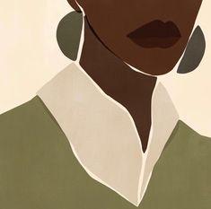 Seek silence to reflect and recharge. - Thank you for this gorgeous… Black Girl Art, Art Girl, Art Minimaliste, Black Art Painting, Afro Art, African Art, Female Art, Art Inspo, Line Art