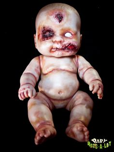 Items similar to Baby Rots-a-Lot: zombie baby 14 inch vinyl doll - Phil the Governor on Etsy Halloween Prop, Halloween 2014, Holidays Halloween, Halloween Crafts, Halloween Decorations, Halloween Stuff, Halloween Ideas, Diy Zombie Dolls, Scary Dolls