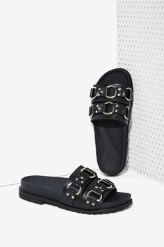 UNIF Bound Leather Slide Sandal | Shop Shoes at Nasty Gal!