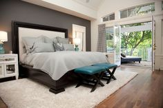 Teal Bedroom Design Ideas, Pictures, Remodel and Decor Teal Master Bedroom, Bedroom Colors, Dream Bedroom, Home Bedroom, Bedroom Decor, Bedroom Photos, Bedroom Ideas, Bedroom Wardrobe, Bedroom Carpet