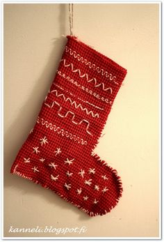 Kuvahaun tulos haulle joulusukka vohvelikankaasta Christmas Stockings, Holiday Decor, Home Decor, Needlepoint Christmas Stockings, Decoration Home, Room Decor, Christmas Leggings, Home Interior Design, Home Decoration