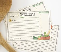 recipe cards...love this for a gift idea. fill in a few of your favorite recipes to get them started :)