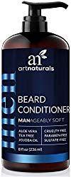 ArtNaturals Natural Beard Deep Conditioner - - Infused with Aloe Vera, Tea Tree and Jojoba Oil - Sulfate Free How To Make Conditioner, Beard Shampoo And Conditioner, Deep Conditioner, Best Beard Wash, Best Beard Shampoo, Mustache Grooming, Beard Grooming, Bald With Beard