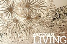 White orb light fixture from Ikea. Featured in the Summer 2012 issue of East Coast Living. Photo by Joanna Nickerson, Studio Rouge Orb Light Fixture, East Coast, Ikea, Homes, Studio, Unique, Summer, Photography, Red