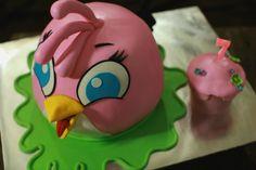 masam manis: Angry Birds Stella 3D Cake Tutorial