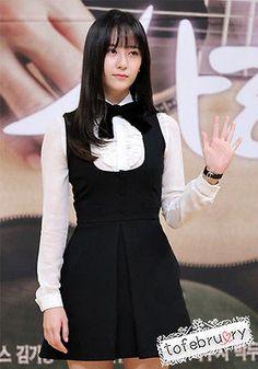 Korean TV Drama Fashion Birth of a Beauty Han Yeseul Ye Seul Blouse Black Dress | eBay