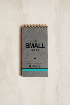 Cool new notebook and planner brand at NoteMaker. J Story - Spiral Notebook - Small (13x18cm) - Plain - Grey