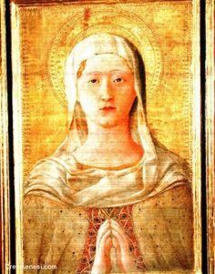 Domenico di Bartolo - L'Assunta, dettaglio - Pinacoteca Nazionale