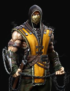 Scorpion Fan Art I started a while ago based on amazing concept by an anonymous artist. Mortal Kombat X Scorpion, Mortal Kombat 9, Mortal Kombat Tattoo, Mortal Kombat Comics, Sub Zero Mortal Kombat, Skorpion Mortal Kombat, Cosplay Games, Mortal Kombat X Wallpapers, Claude Van Damme