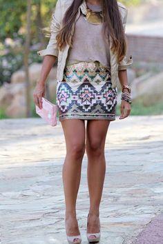sirenlondon — Sassy Sequin Skirt
