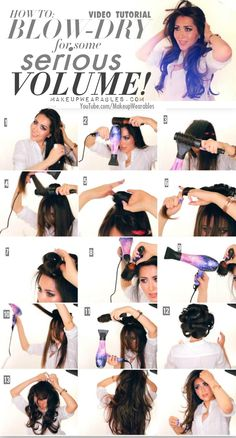 Long-lasting, voluminous #hairstyles | Salon Blow-Out at Home Tutorial Video