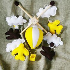 Karuzela nad łóżeczko - Samoloty - WZÓR - Kram-Iki - Karuzele dla niemowląt
