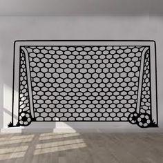 Football Goal Net Wall Sticker Art Kids Room Boys Girls Decor Vinyl Wall Sticker Art Mural Bedroom Living Home Decor